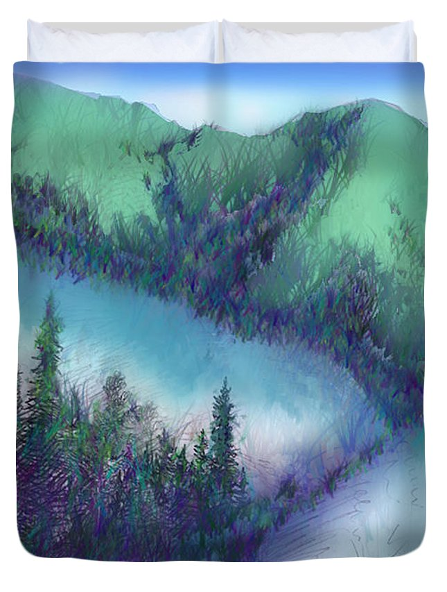 Wilmore Duvet Cover featuring the mixed media Wilmore Wilderness Area by Shirley Heyn