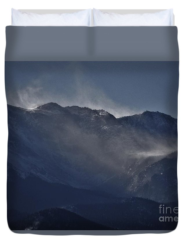 Winter Duvet Cover featuring the photograph Wind And Snow by CL Redding