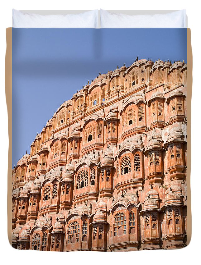 Architecture Duvet Cover featuring the photograph Wind Palace - Jaipur by Bill Bachmann - Printscapes