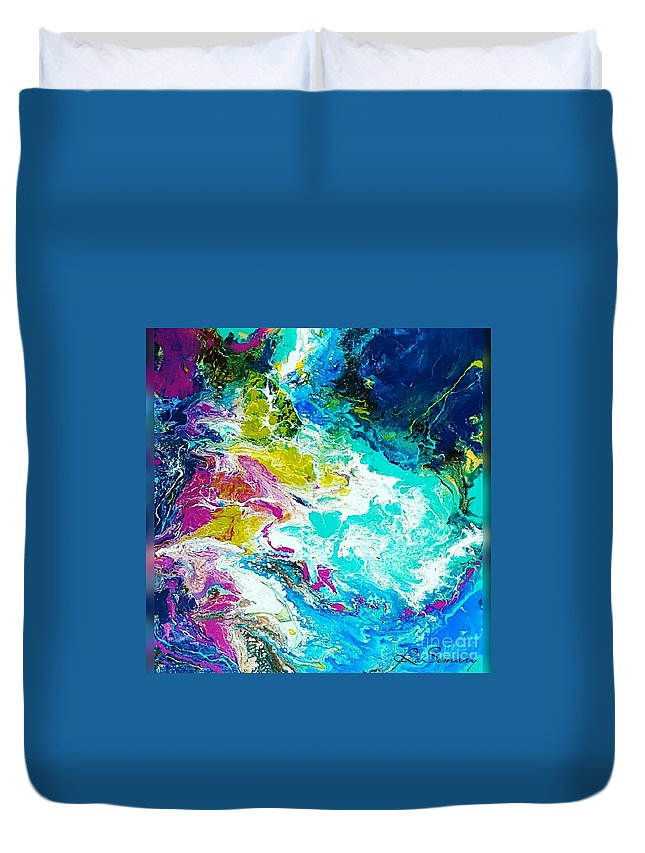 Duvet Cover featuring the mixed media Wind by Rosemary Hadeed