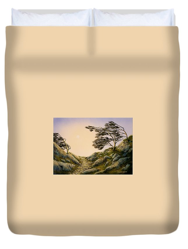 Windblown Warriors Duvet Cover featuring the painting Windblown Warriors by Frank Wilson