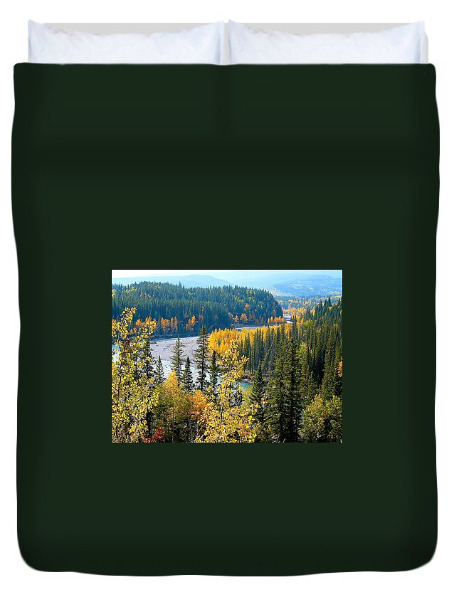Landscape Duvet Cover featuring the photograph Winding Creek by Lisa Knechtel
