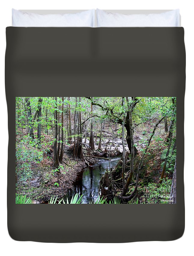 Sopchoppy River Duvet Cover featuring the photograph Winding Sopchoppy River by Barbara Bowen