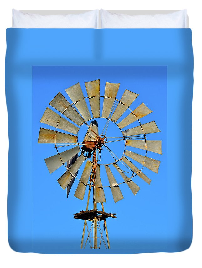 Wine Country Duvet Cover featuring the photograph Windmill by Bridgette Gomes