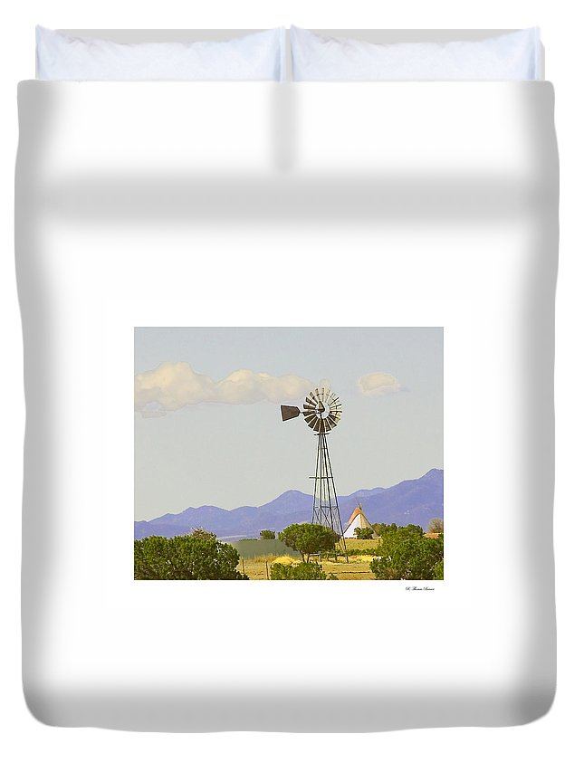 Duvet Cover featuring the photograph Windmill by R Thomas Berner