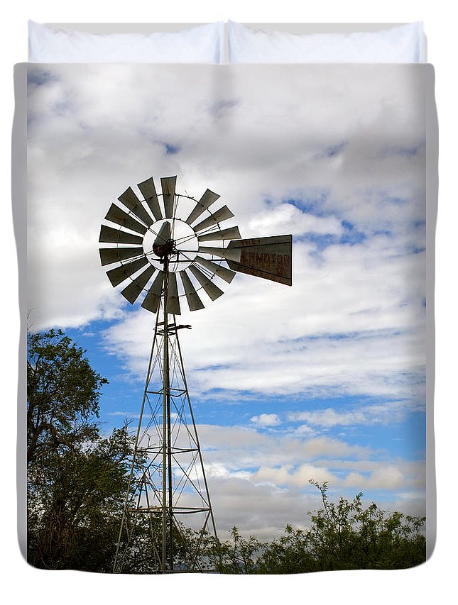 Windmill Duvet Cover featuring the photograph Windmill by Randall Ingalls