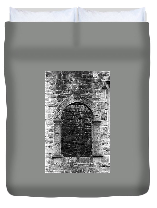 Irish Duvet Cover featuring the photograph Window At Donegal Castle Ireland by Teresa Mucha