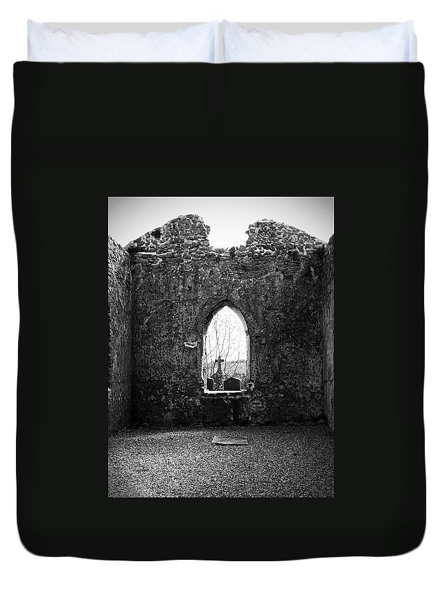 Ireland Duvet Cover featuring the photograph Window at Fuerty Church Roscommon Ireland by Teresa Mucha
