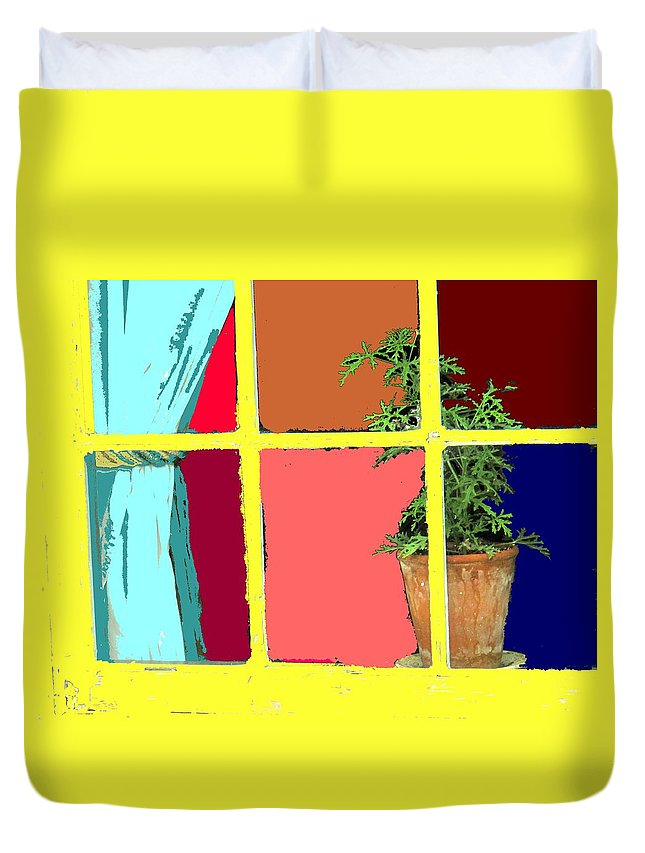 Window Duvet Cover featuring the photograph Window by Ian MacDonald