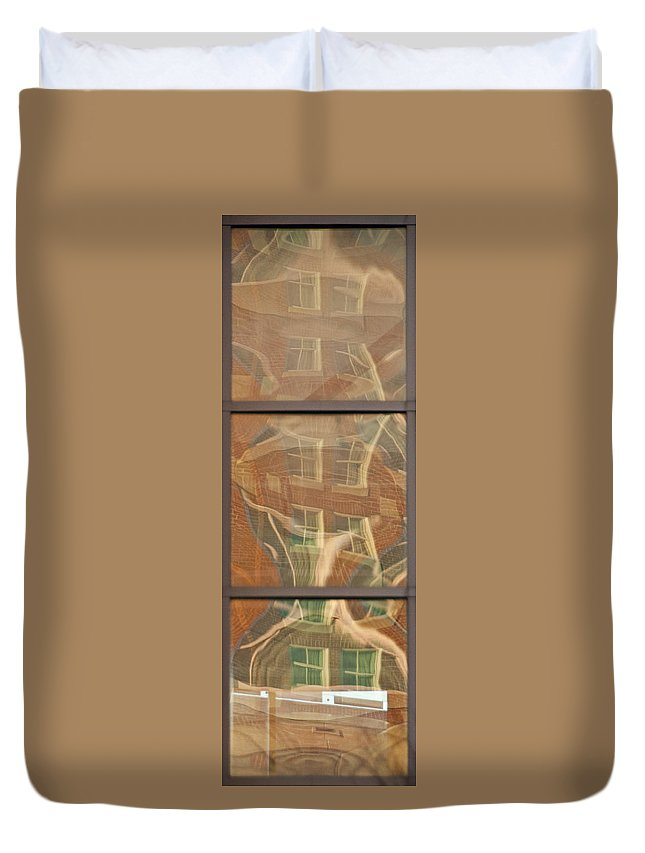 Window Duvet Cover featuring the photograph Window Reflection by Steven Natanson