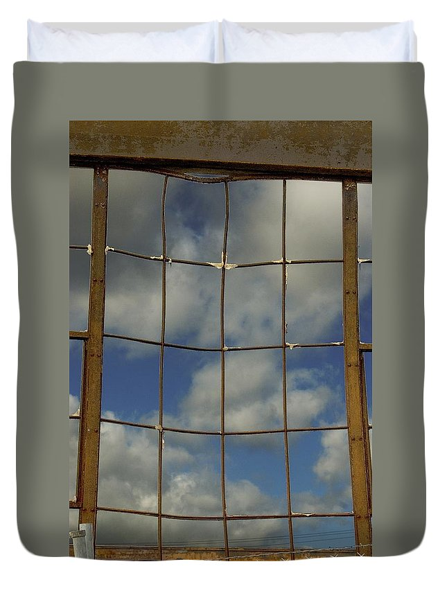 Window Duvet Cover featuring the photograph Window by Sara Stevenson