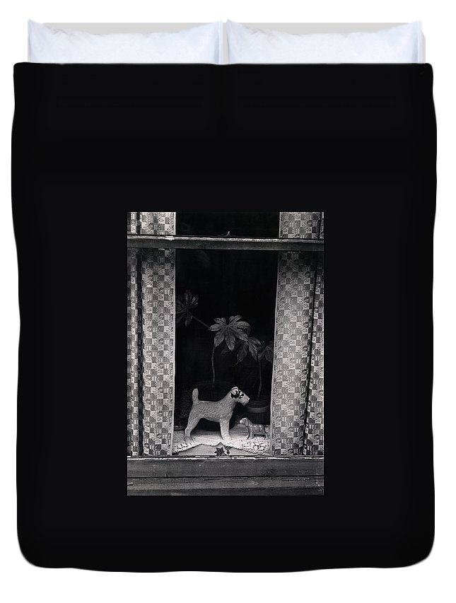 Photograph Duvet Cover featuring the photograph Window Scene by Charles Stuart