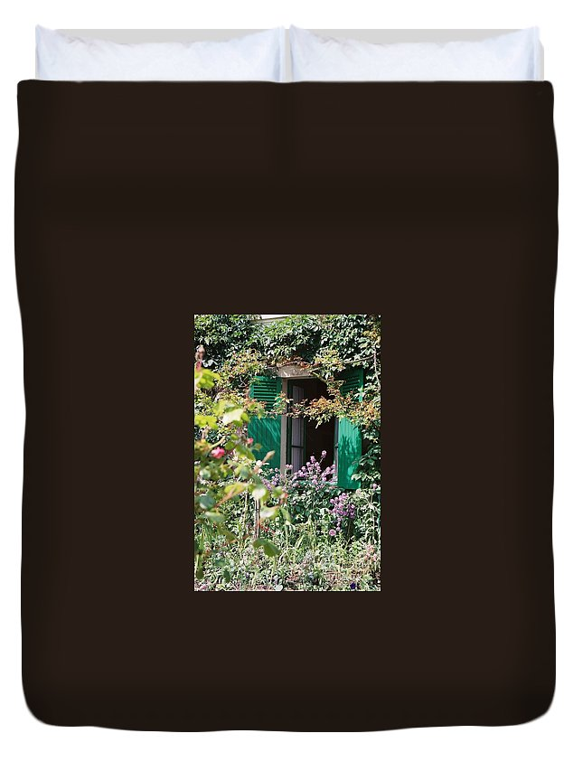 Charming Duvet Cover featuring the photograph Window To Monet by Nadine Rippelmeyer