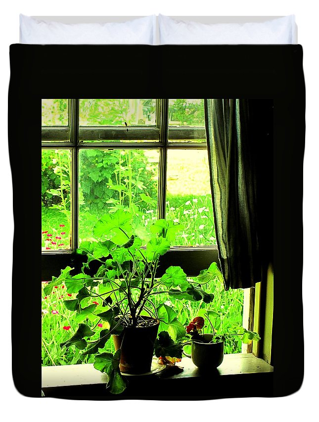 Pioneer Duvet Cover featuring the photograph Window To The World by Ian MacDonald