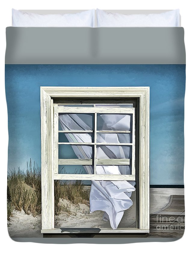 Wildwood Duvet Cover featuring the digital art Window With A View by Diane LaPreta