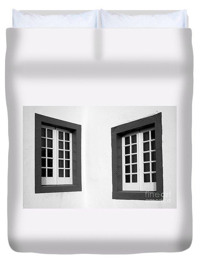 Azores Duvet Cover featuring the photograph Windows by Gaspar Avila