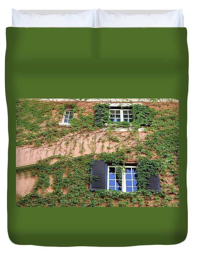 Window Duvet Cover featuring the photograph Windows by Munir Alawi