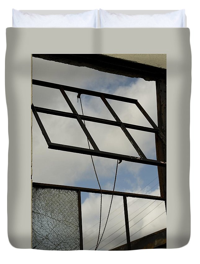 Window Duvet Cover featuring the photograph Window's Pain 4 by Sara Stevenson