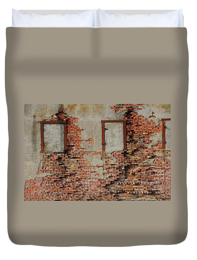 Bricked In Duvet Cover featuring the photograph Windows That Do Not See by David Arment