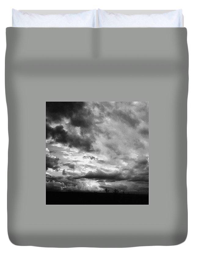 Himmelübermir Duvet Cover featuring the photograph Windräder. Hier Nicht Im by Mandy Tabatt