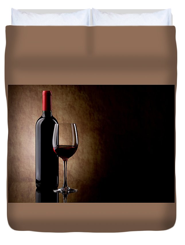 Wine Duvet Cover featuring the digital art Wine by Dorothy Binder