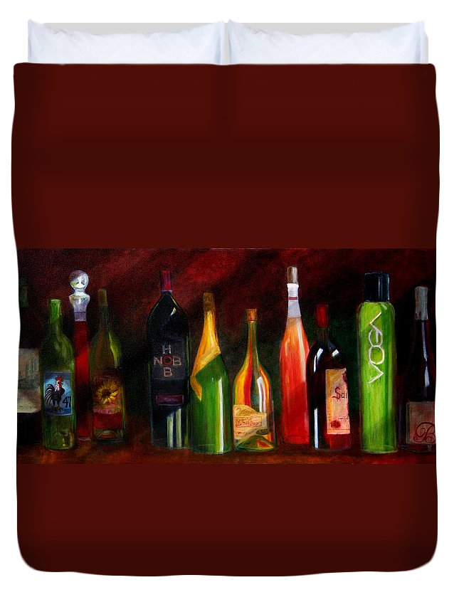 Wine Duvet Cover featuring the painting Colors Of Wine by Rhonda Ernst