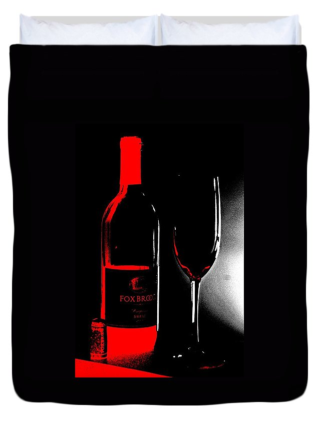 Wine Duvet Cover featuring the photograph Wine Time by Donna Bentley