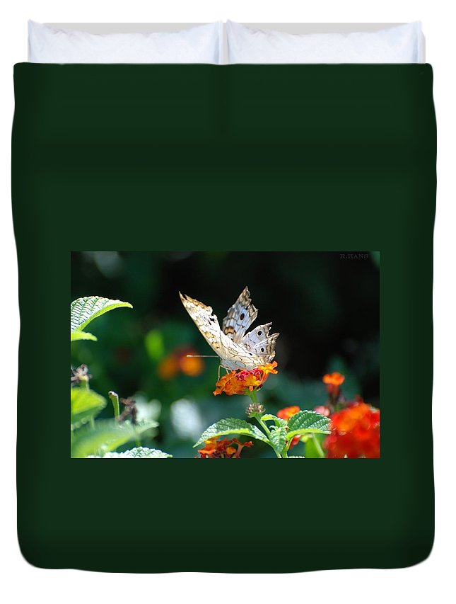 Butterfly Duvet Cover featuring the photograph Winged Butter by Rob Hans