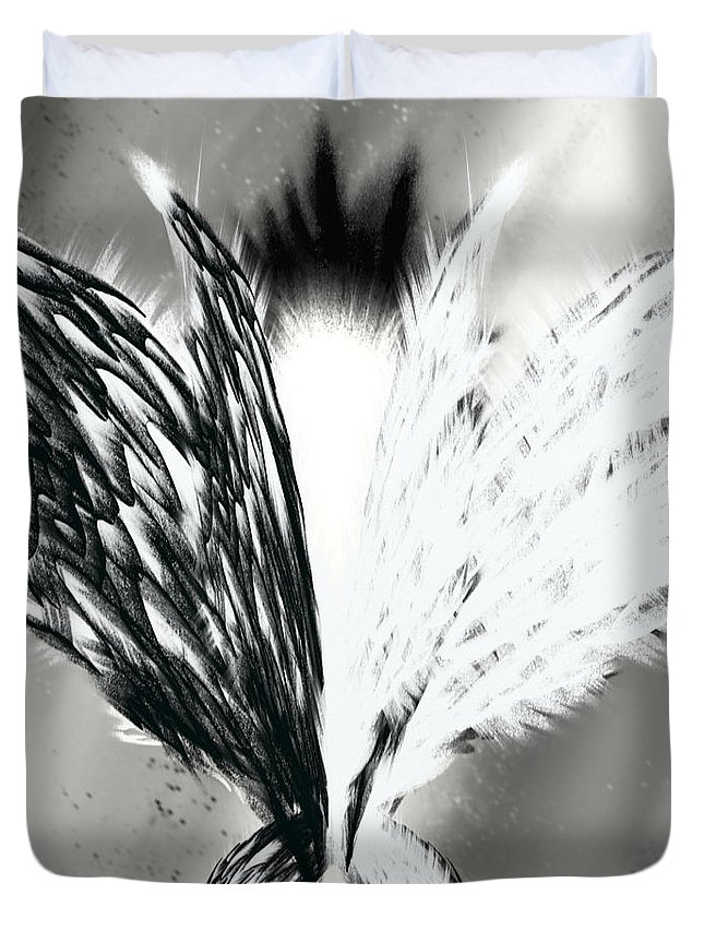Wing Duvet Cover featuring the digital art Wings No.1 by Abdulaziz Butaiban