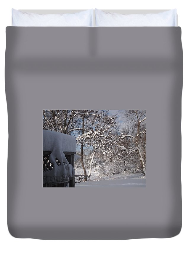 Silverthorn Estates Duvet Cover featuring the photograph Winter 1 by Herb Walfoort