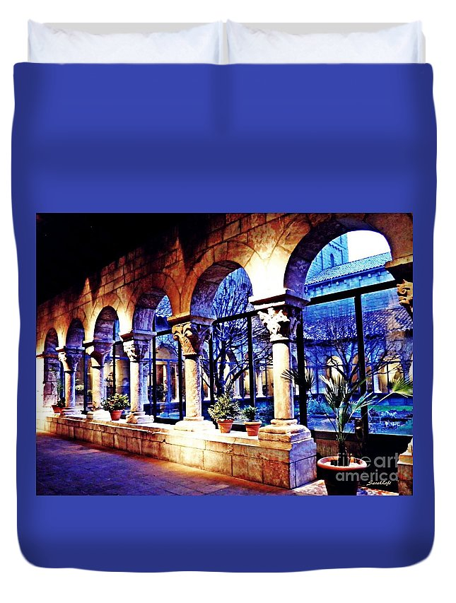 Cloister Duvet Cover featuring the photograph Winter Afternoon At The Cloisters 5 by Sarah Loft