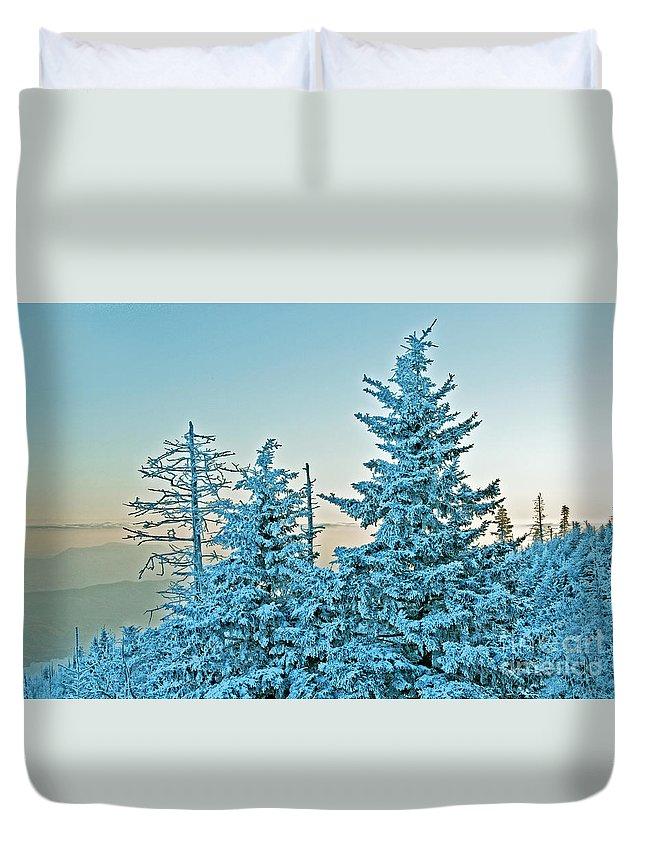 Mt. Leconte Duvet Cover featuring the photograph Winter by Bernd Billmayer