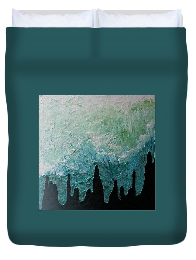 Winter Duvet Cover featuring the painting Winter Comes by Jennifer Klotz