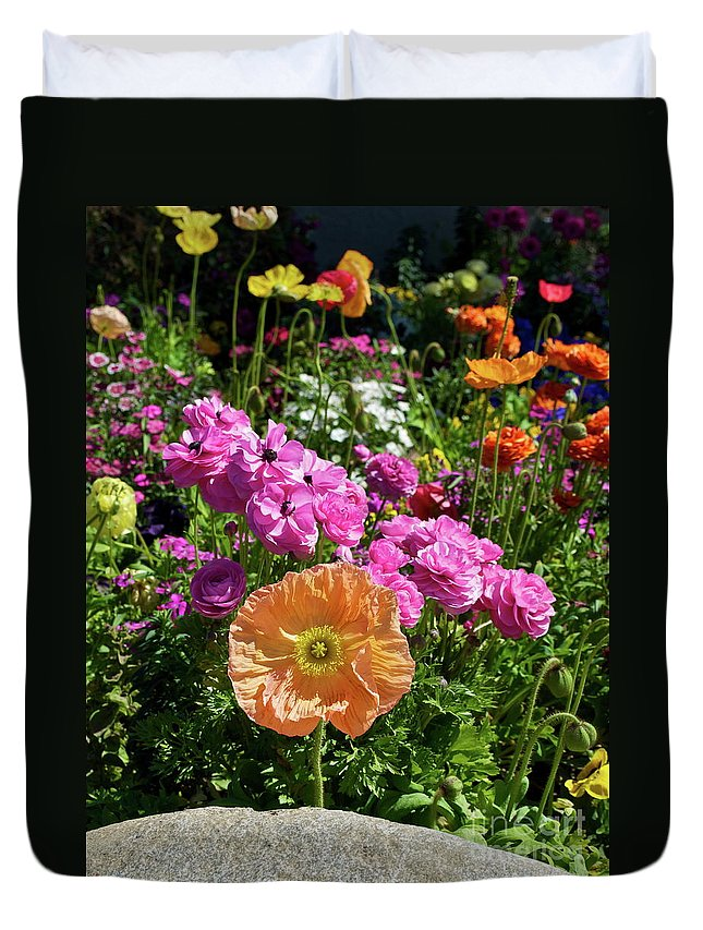 Flower Duvet Cover featuring the photograph Winter Flowers by Gwyn Newcombe