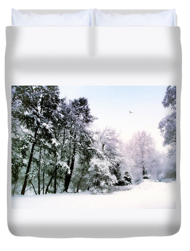 Winter Duvet Cover featuring the photograph Winter Impressions by Jessica Jenney