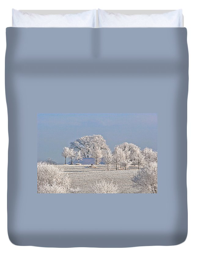 Canada Duvet Cover featuring the photograph Winter In Canada by Christine Till