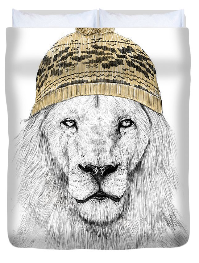 Lions Mixed Media Duvet Covers