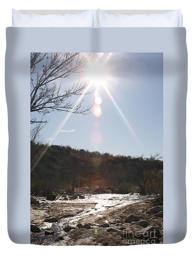 Winter Duvet Cover featuring the photograph Winter Light by Nadine Rippelmeyer
