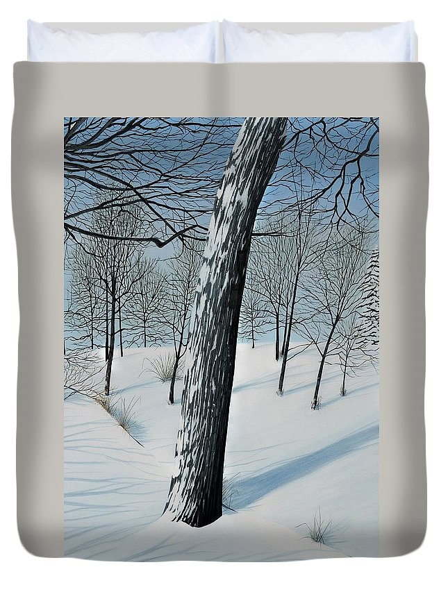 Landscape Duvet Cover featuring the painting Winter Maple by Kenneth M Kirsch