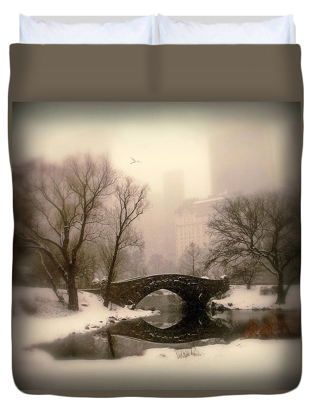 Winter Duvet Cover featuring the photograph Winter Nostalgia by Jessica Jenney