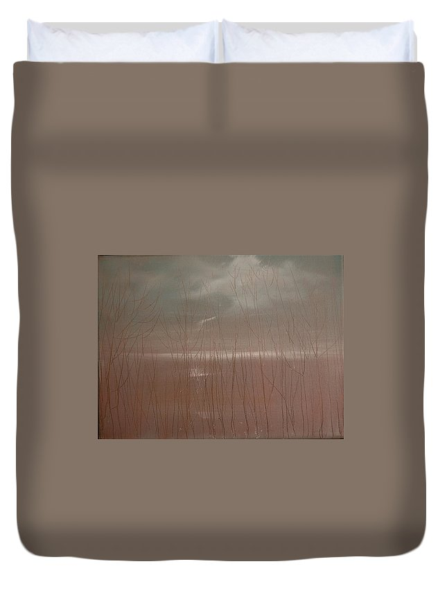 Dusk Duvet Cover featuring the painting Winter Of Hope by Jack Diamond