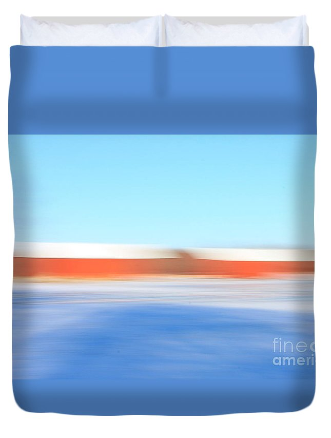 Hadley Duvet Cover featuring the photograph Winter Reds 2 by Aquadro Photography