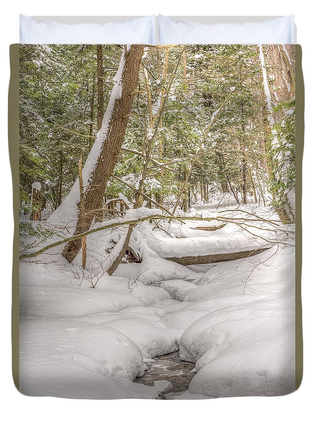 Streams Duvet Cover featuring the photograph Winter Serenity by Rod Best