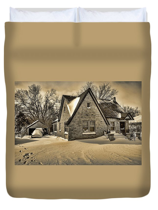Winter Duvet Cover featuring the photograph Winter Snow II by Ricky Barnard