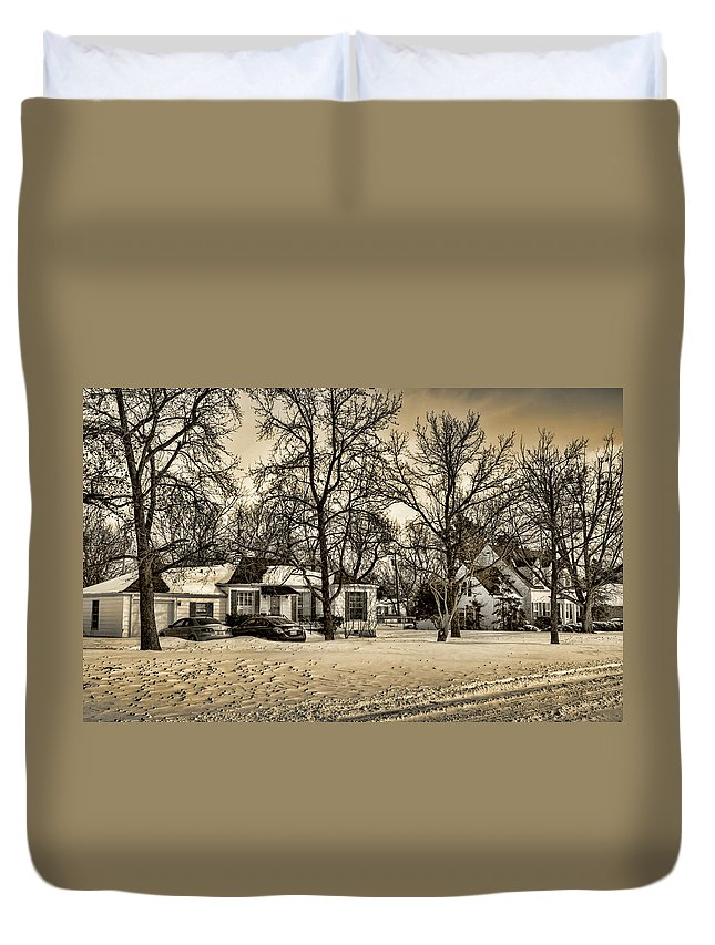 Winter Duvet Cover featuring the photograph Winter Snow by Ricky Barnard