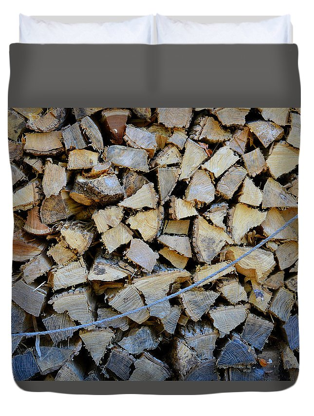 Firewood Duvet Cover featuring the photograph Winter Survival Kit 3 by Iliyan Bozhanov