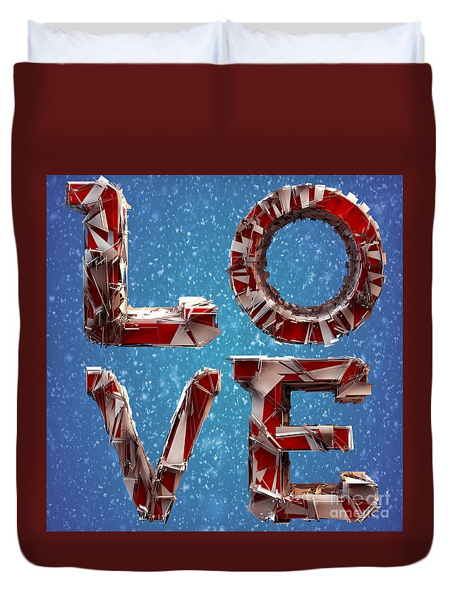 Love Duvet Cover featuring the photograph Winter Time Love by Gary Keesler