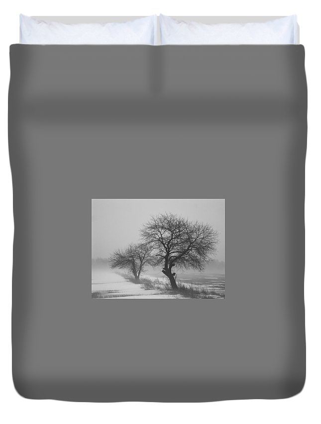 Winter Duvet Cover featuring the photograph Winter Trees by Chesley House