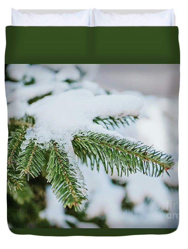 White Duvet Cover featuring the photograph Winter by Viktor Pravdica
