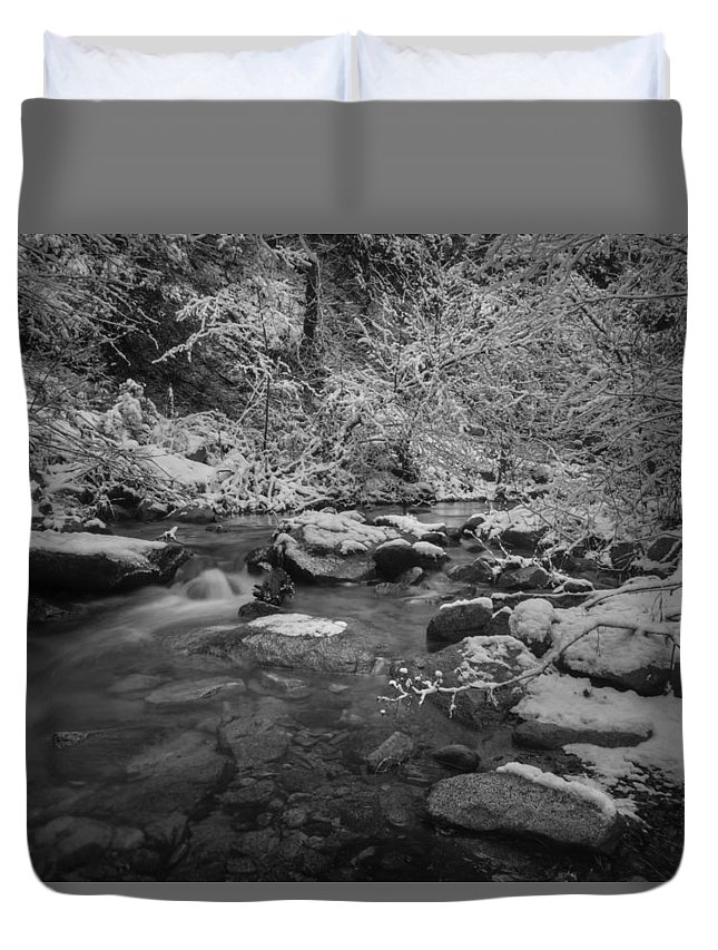 Whiskeytown National Recreation Area Duvet Cover featuring the photograph Winter Wonderland by Michele James